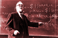 Norbert Wiener at the board